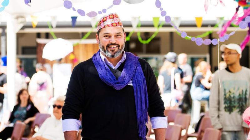 Monty Singh at Lismore campus Fusion Festival