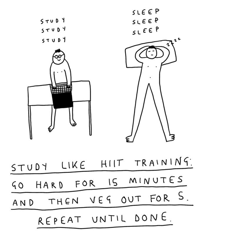 Tip five - study tips - Artwork by Ellie Hopley