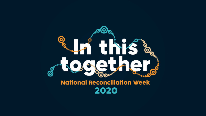 National Reconciliation Week: In this together banner from 2020