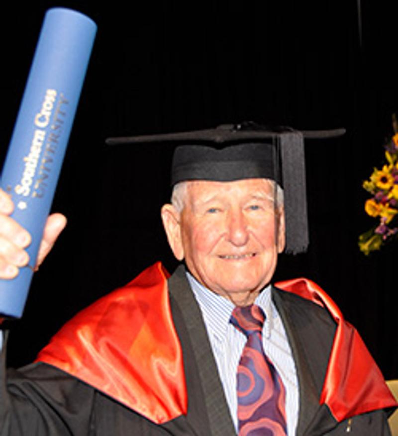 image of a 2017 Alumni award winner Allan Stewart at his graduation