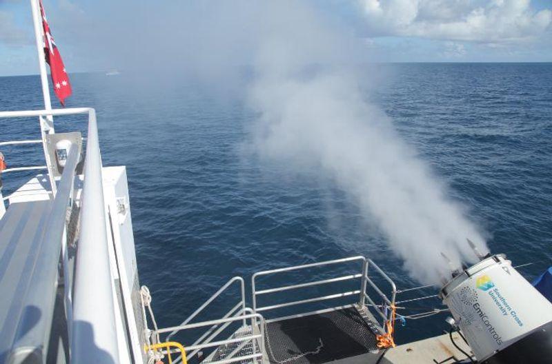 Seawater sprayer jets close up