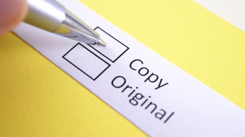 pen ticking either copy or original tickbox