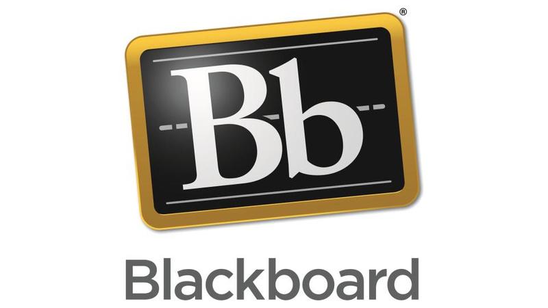 Blackboard logo card
