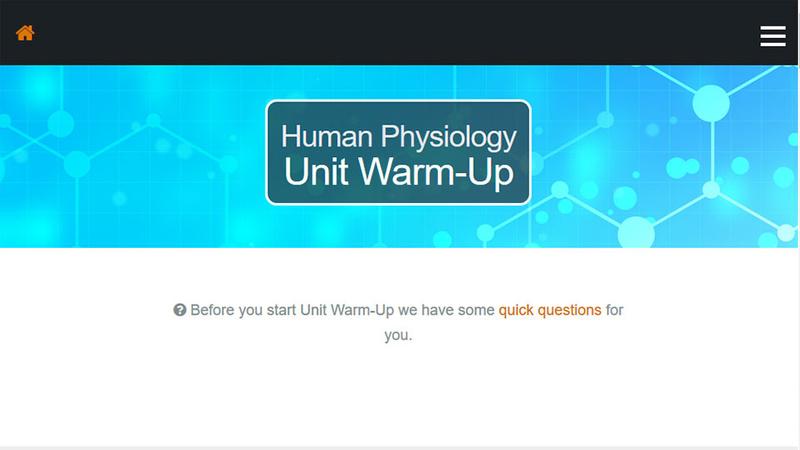 screenshot of Unit-Warm-up