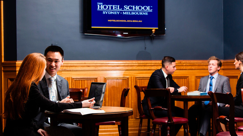 Students at the Hotel School